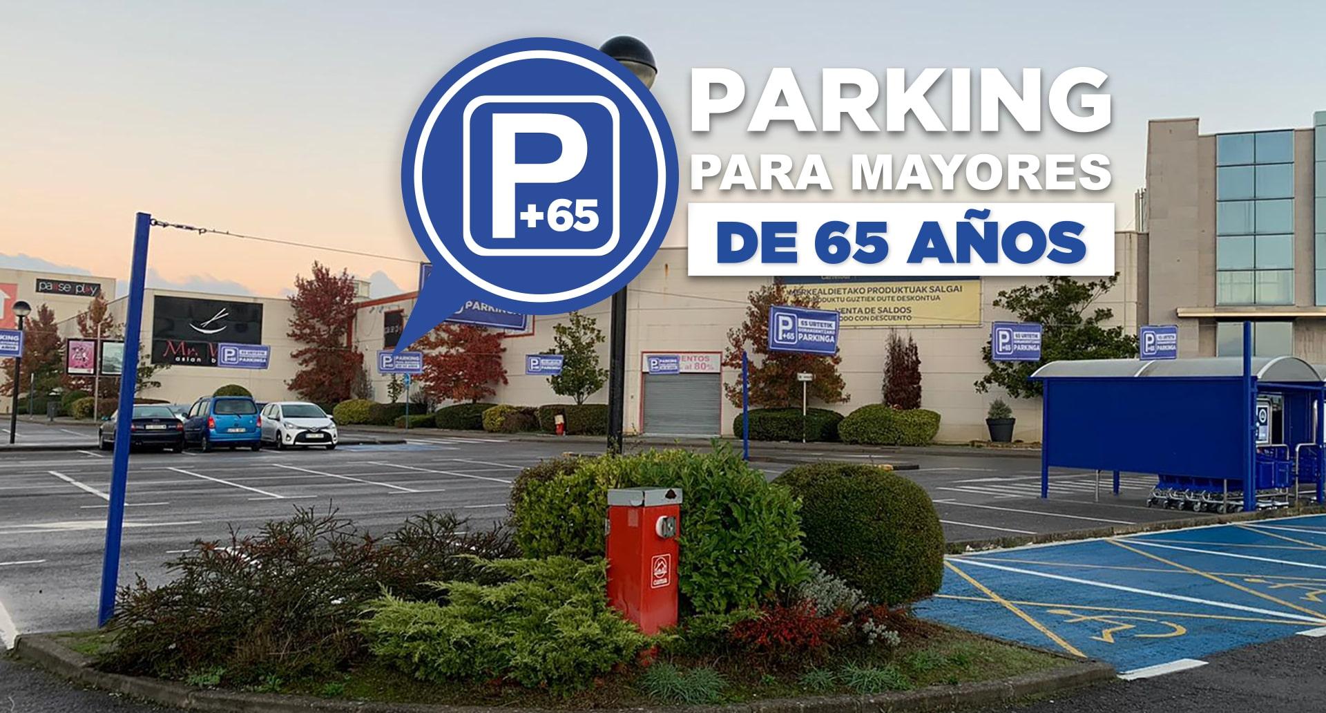 Accesos preferenciales para mayores de 65 años en el Parque Comercial Gorbeia