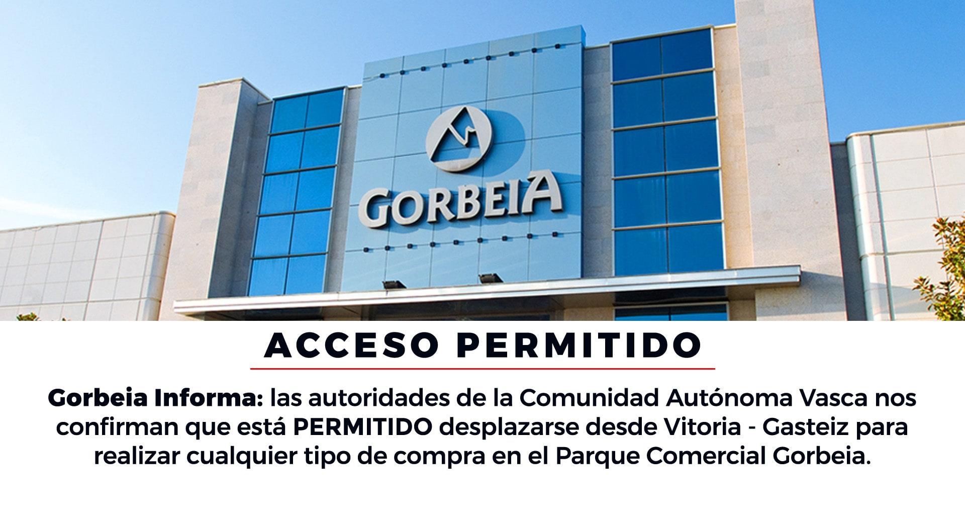 El acceso al Parque Comercial Gorbeia desde Vitoria - Gasteiz está permitido