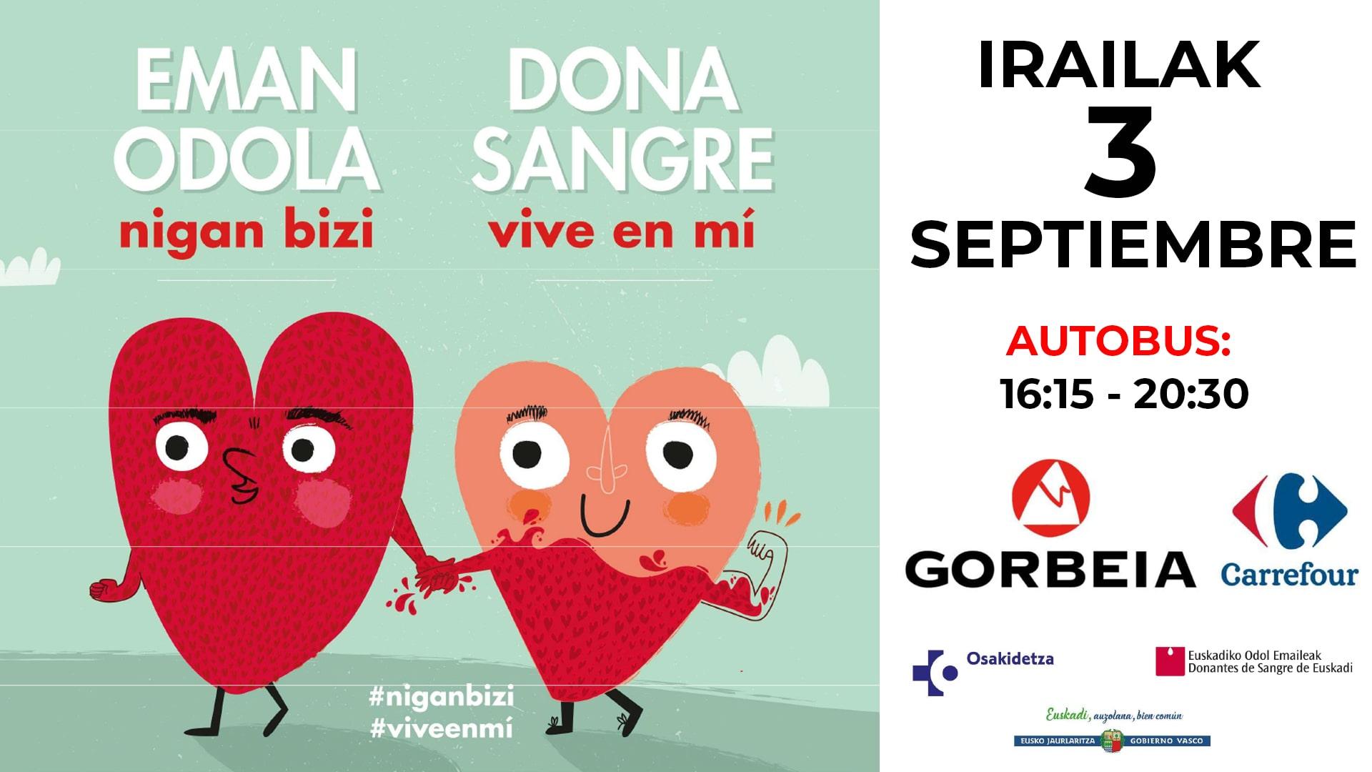 ¡Ven a donar sangre al Parque Comercial Gorbeia!