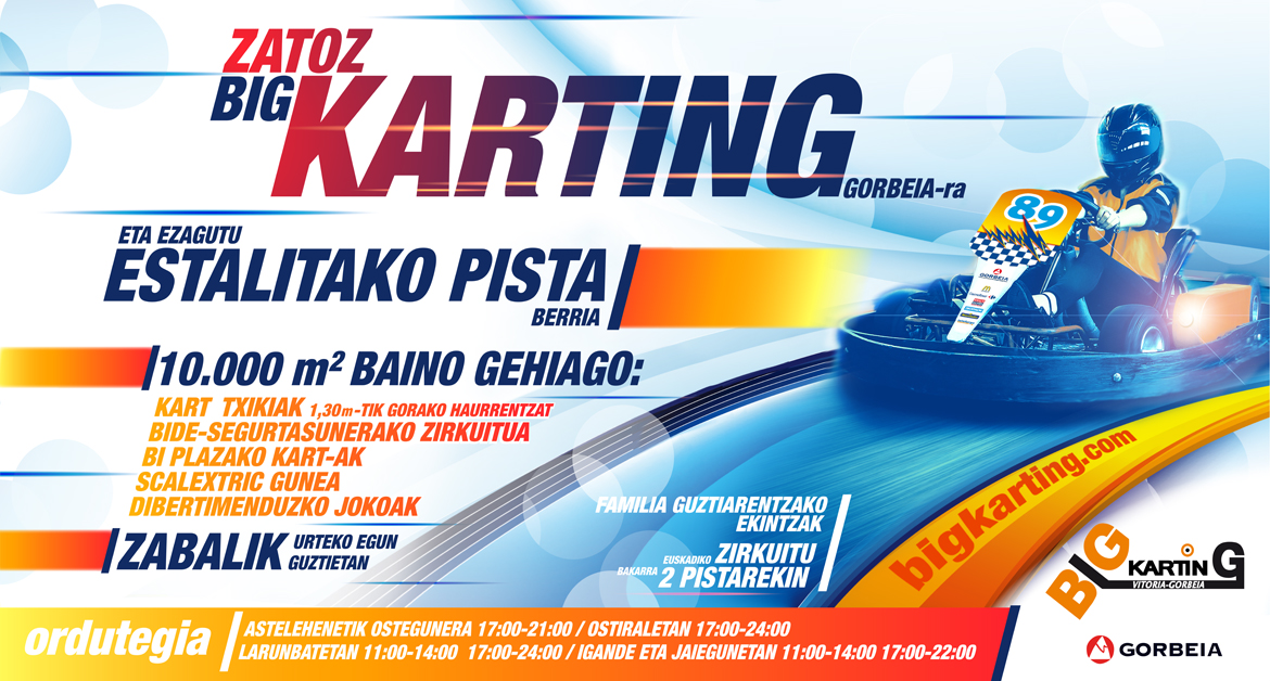 Zatoz Big Karting Gorbeiara