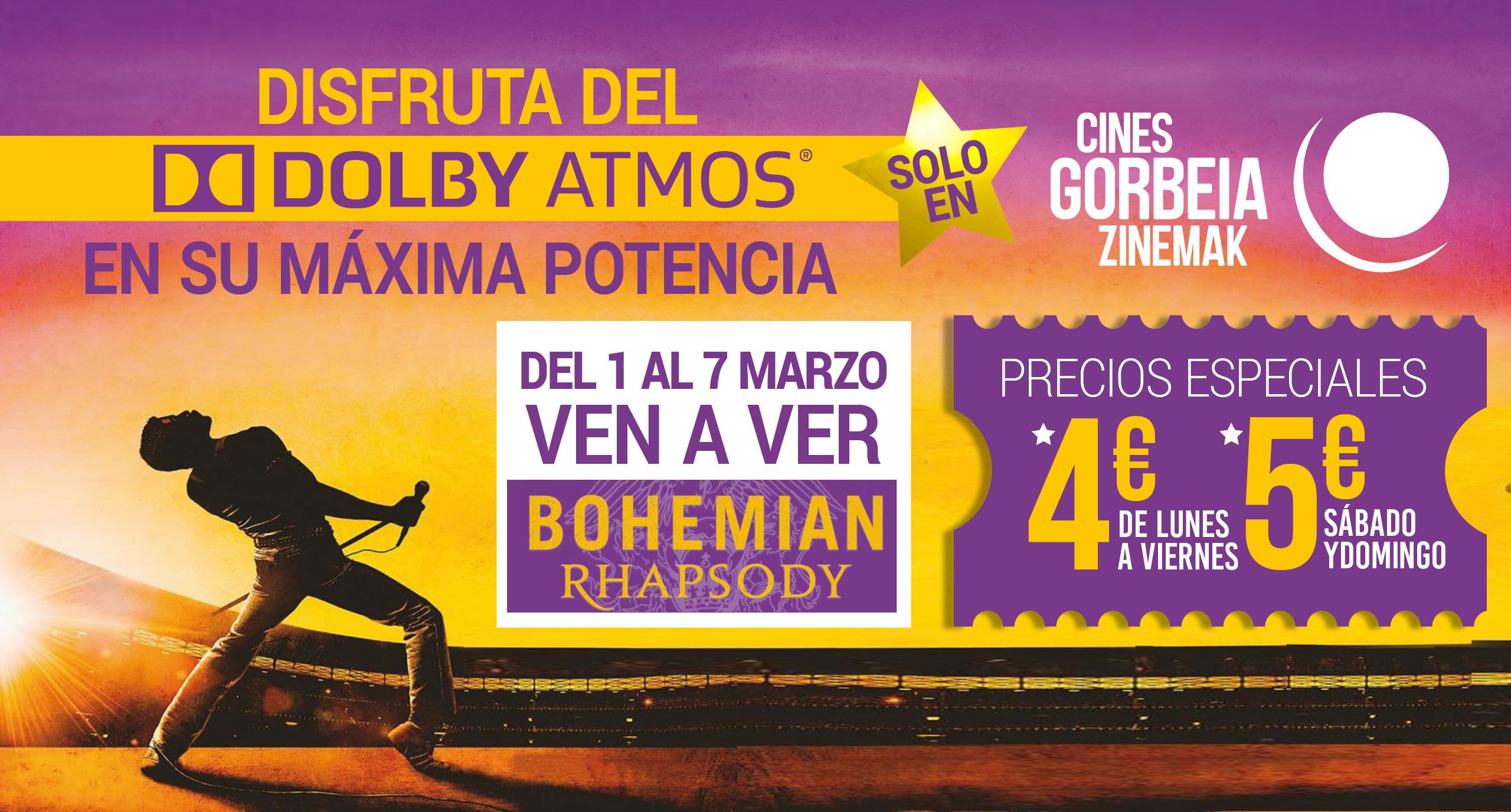 ¡Bohemian Rhapsody en Dolby Atmos del 1 al 7 de marzo!