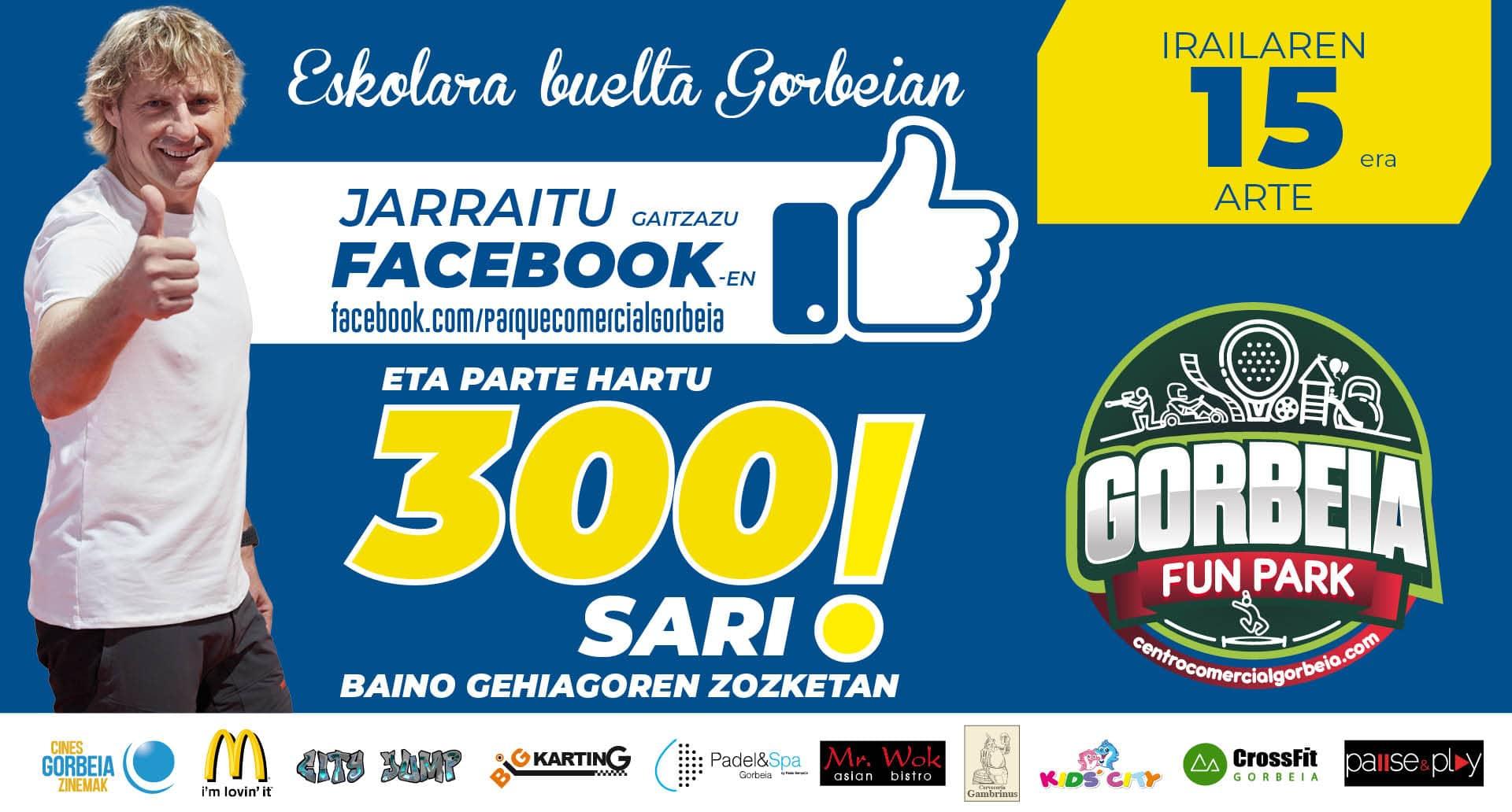 300 sari baino gehiago zozkatuko ditugu gure Facebook-eko orrialdean!