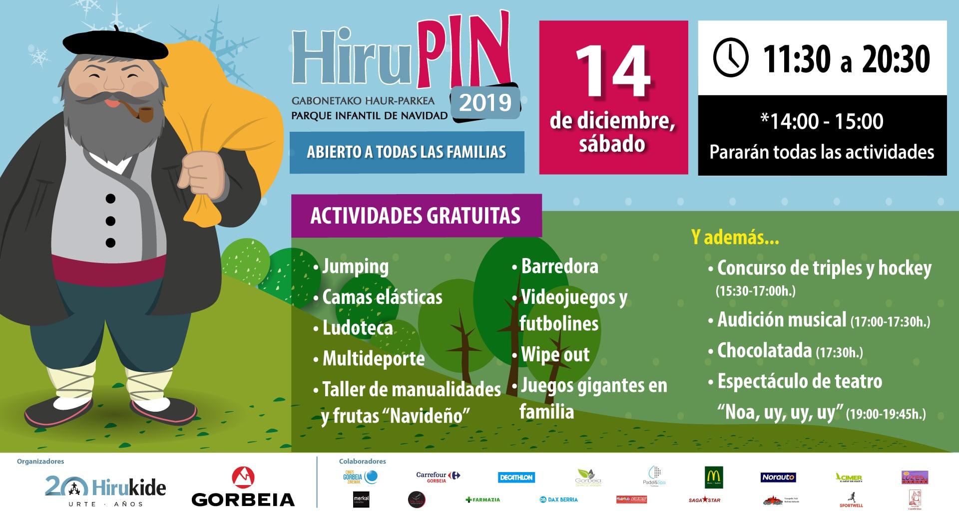 ¡Ven al Parque Infantil de Navidad Hirupin 2019!