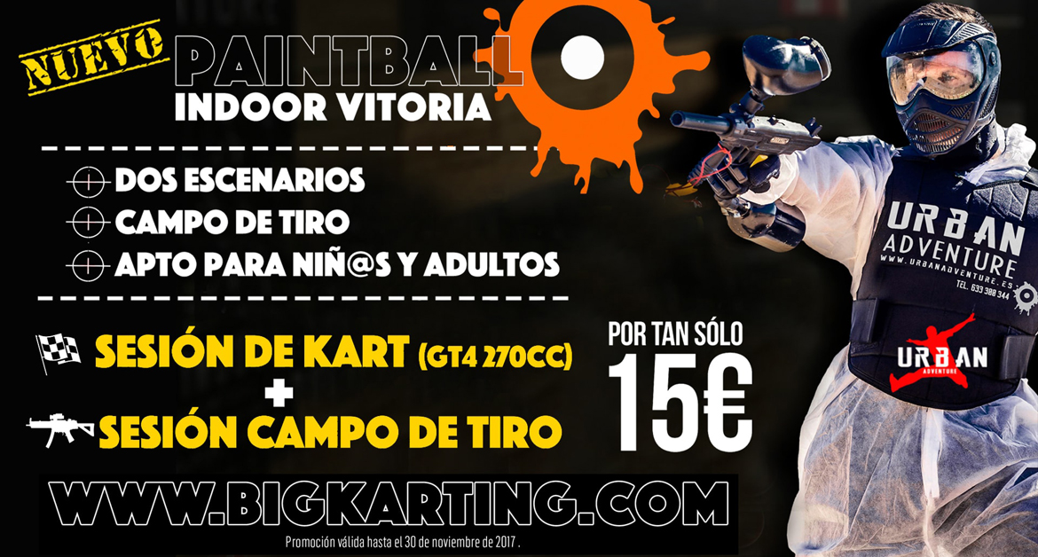 Nuevo Paintball indoor Vitoria en Big Karting