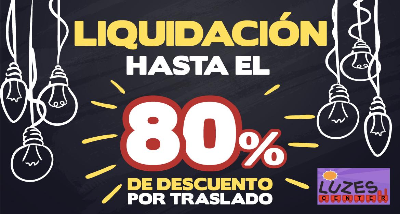 ¡Liquidación! Hasta 80% de descuento por traslado