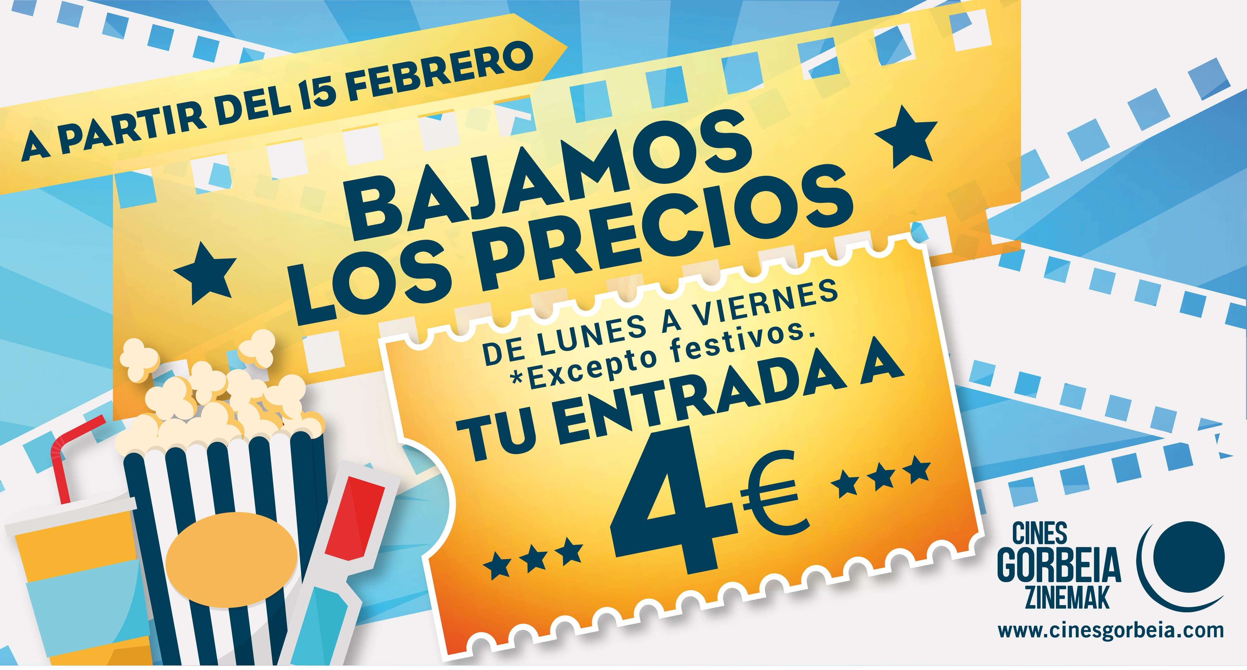 Tu entrada de cine a 4€